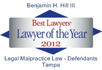 Best Lawyers 2012 logo B Hill