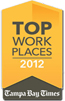 Top Work Places 2012 Badge