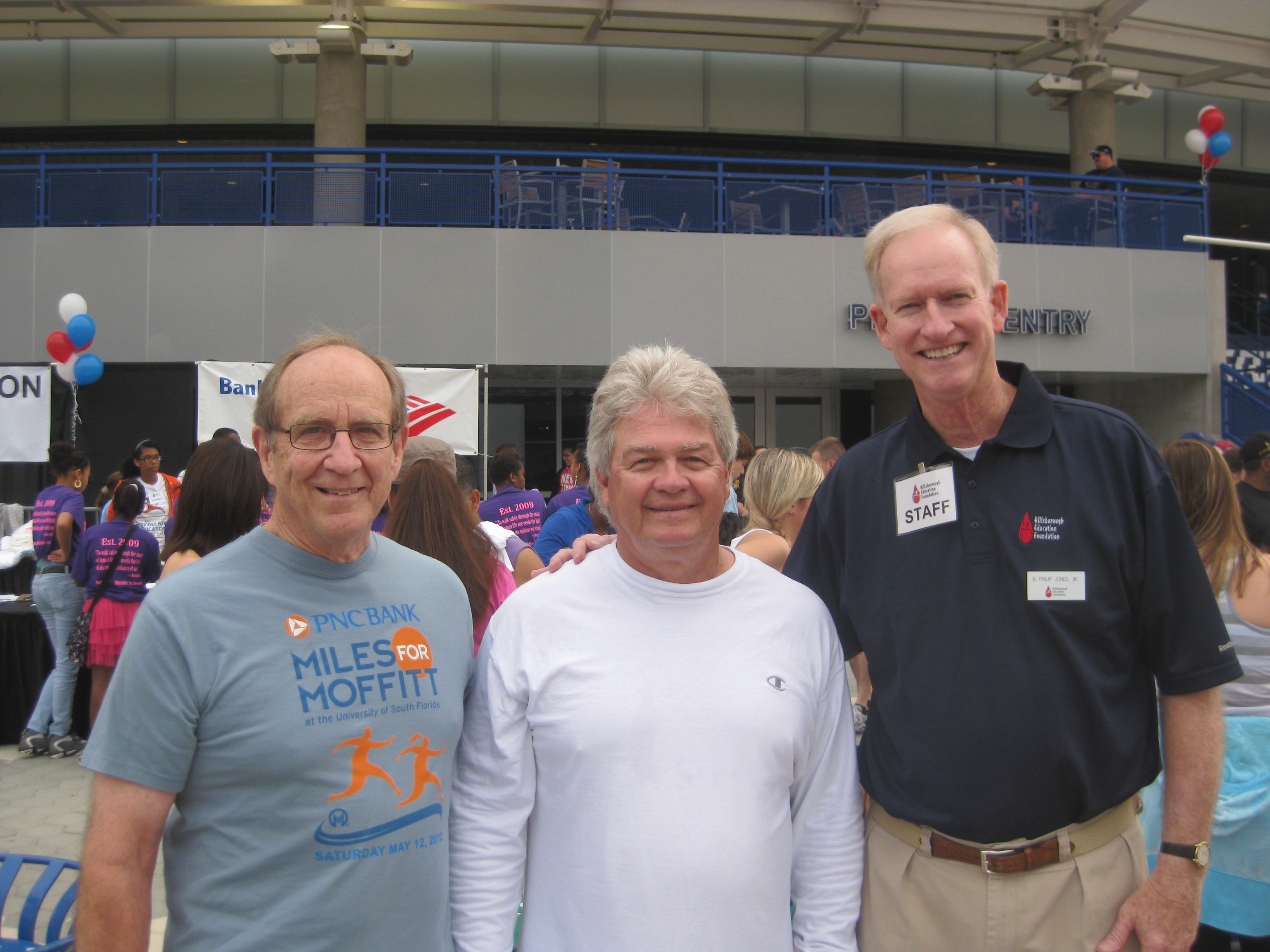 From Left to Right: HWH Shareholders Benjamin H. Hill, III and Alton C. Ward with Phil Jones, President of the Hillsborough Education Foundation.